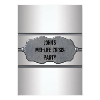 Mid Life Crisis Mans 40th Birthday Party 13 Cm X 18 Cm Invitation Card