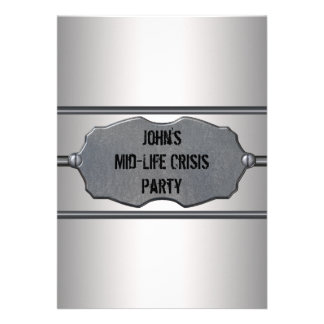 Mid Life Crisis Mans 40th Birthday Party Personalized Invites