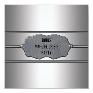 Mid Life Crisis Mans Black 40th Birthday Party 13 Cm X 13 Cm Square Invitation Card