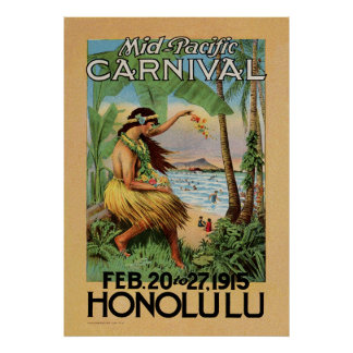 Mid-Pacific Carnival - Honolulu - 1915 Posters