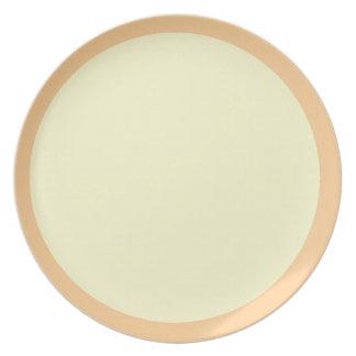 Mid-Peach and Cream Plate