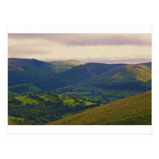 Mid-Wales Landscape Postcard