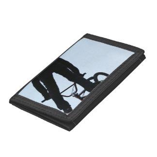 Midair BMX Jump Silhouette Trifold Wallet