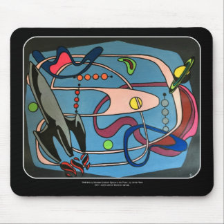 'MidCentury Mod Space is the Place' painting on a Mouse Pad