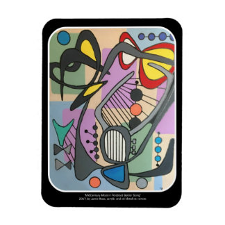 'MidCentury Mod Spider Song' painting on a Magnet