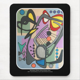 'MidCentury Mod Spider Song' painting on a Mouse Pad