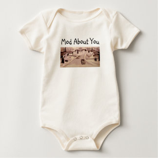 Midcentury Modern Architecture Baby Bodysuit