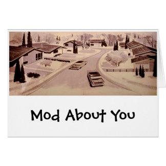 Midcentury Modern Architecture Card