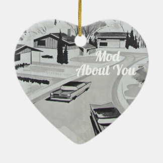 Midcentury Modern Architecture - Mod about you Ceramic Ornament