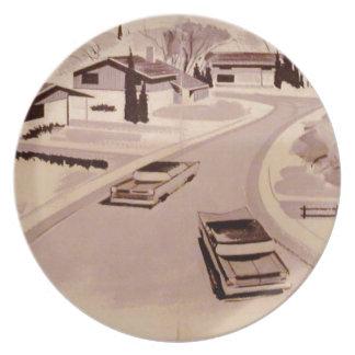Midcentury Modern Architecture Plate