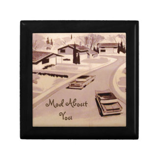 Midcentury Modern Architecture Small Square Gift Box