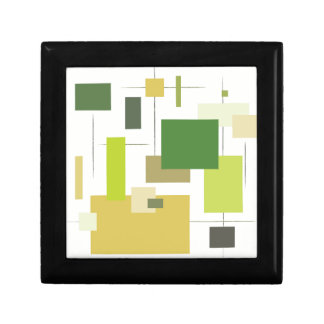 Midcentury Modern Green Squares Gift Box
