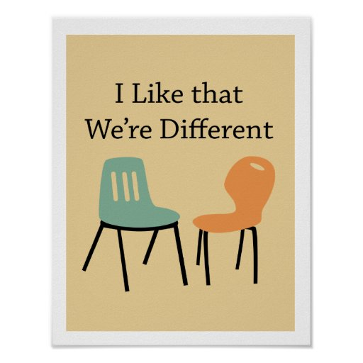 Midcentury modern retro chairs - Different Posters