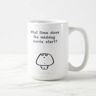 midday movie basic white mug