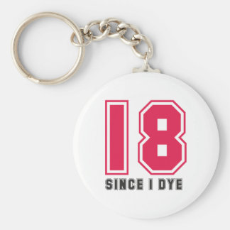 middle age basic round button key ring