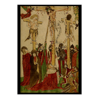 Middle ages crucifixion poster