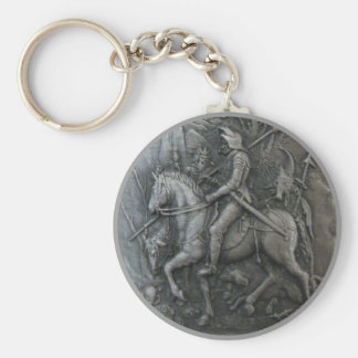 Middle Ages Knight Keychain