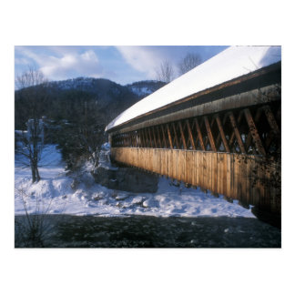 Middle Bridge Woodstock in Winter Postcard
