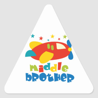 Middle Brother Plan Stars Triangle Sticker