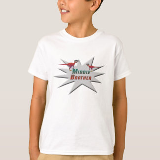 Middle Brother Velociraptor Design T-Shirt