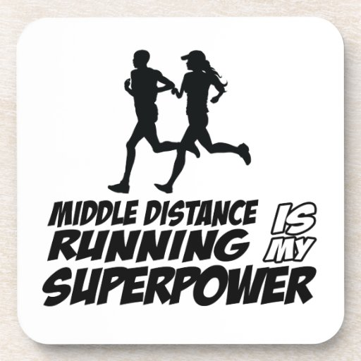 Middle distance running drink coaster