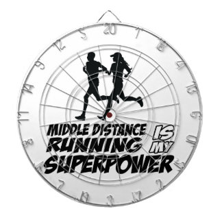 Middle distance running dartboard