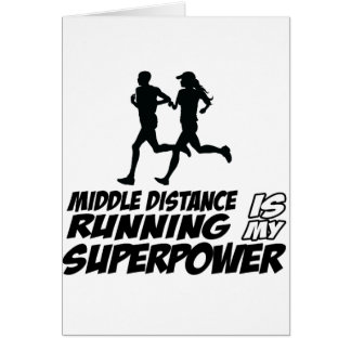 Middle distance running greeting card