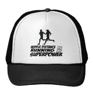 Middle distance running trucker hats