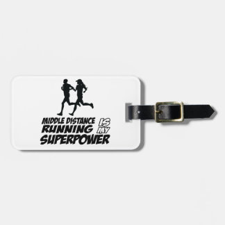 Middle distance running bag tag