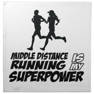 Middle distance running printed napkin