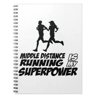 Middle distance running note book