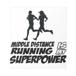 Middle distance running notepads