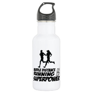 Middle distance running 18oz water bottle