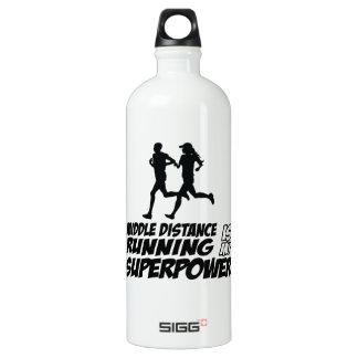 Middle distance running SIGG traveller 1.0L water bottle