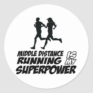 Middle distance running stickers