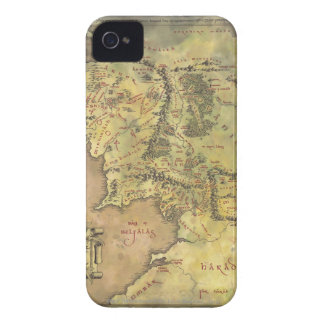 Middle Earth Map iPhone 4 Case