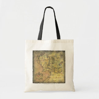 Middle Earth Map Budget Tote Bag