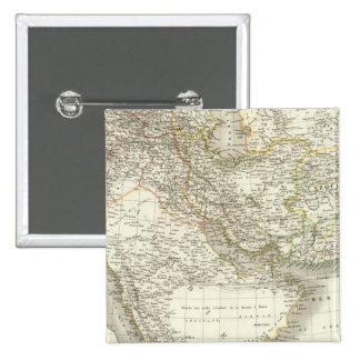 Middle East Atlas Map 2 15 Cm Square Badge