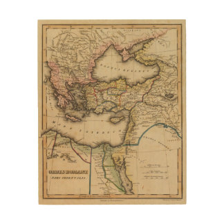 Middle East Atlas Map Wood Wall Decor
