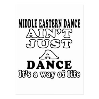 Middle eastern ain't just a dance postcard