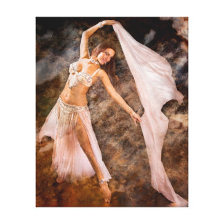 Middle Eastern Belly Dancer Canvas Print