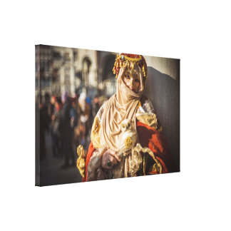 Middle Eastern carnival mask in Venice Canvas Print