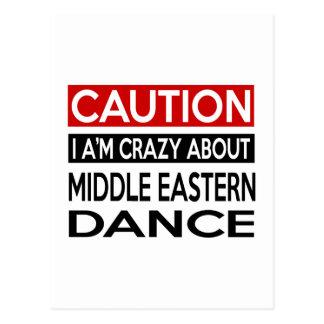 MIDDLE EASTERN DANCE CRAZY DESIGNS POSTCARD