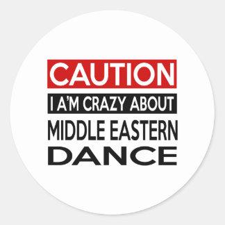 MIDDLE EASTERN DANCE CRAZY DESIGNS ROUND STICKER