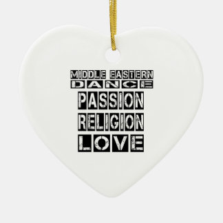Middle eastern DANCE Designs Double-Sided Heart Ceramic Christmas Ornament