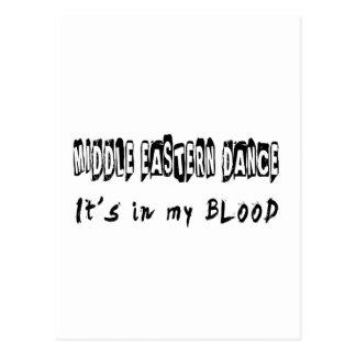 Middle eastern Dance It's In My Blood Postcard