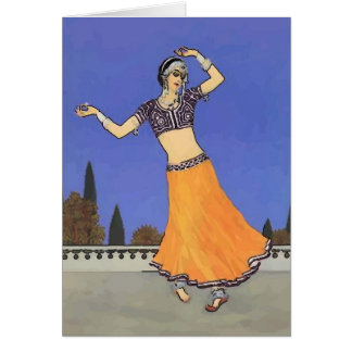 Middle Eastern Dancer Greeting Card