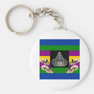 Middle-Eastern Diva Pride Basic Round Button Key Ring