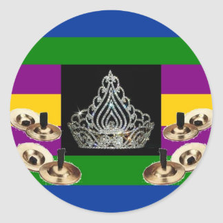 Middle-Eastern Diva Pride Round Sticker