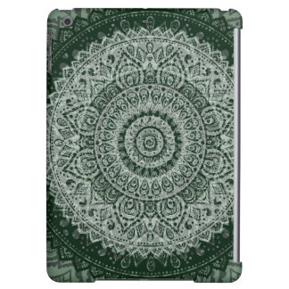 Middle eastern green hippy pattern iPad case